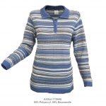 Pullover mit Polokragen und Reißverschluss