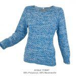 Pullover mit Melangeoptik